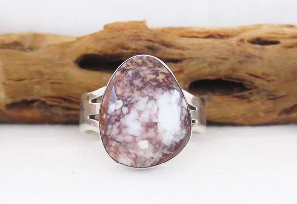 Image 0 of    Navajo Jewelry Wild Horse Stone & Sterling Silver Ring size 9 - 3316sn
