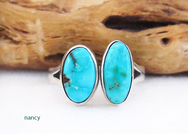 Sterling Silver & Turquoise Ring Sz 7 Native American Jewelry - 3317sn