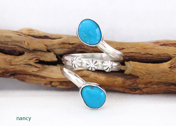 Turquoise & sterling Silver Ring Sz 9 Navajo  Jewelry - 3365rb