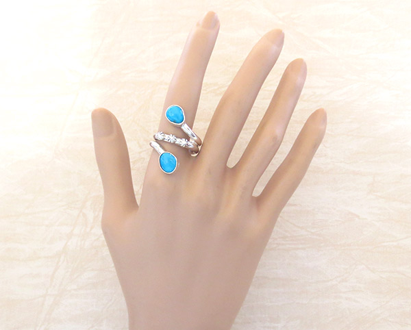 Image 1 of     Turquoise & sterling Silver Ring Sz 9 Navajo  Jewelry - 3365rb