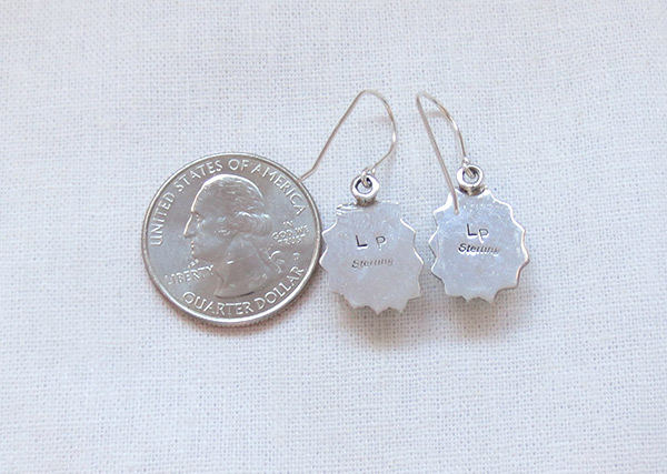 Image 2 of   Turquoise & Sterling Silver Earrings Native American Jewelry - 5107sn