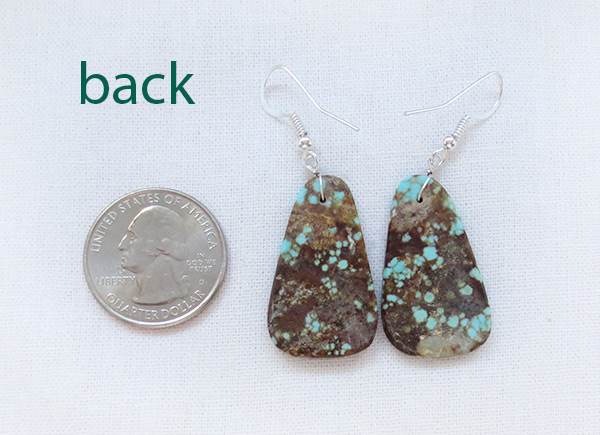 Image 2 of   Native American Jewelry #8 Mine Turquoise Slab Earrings - 2376dt
