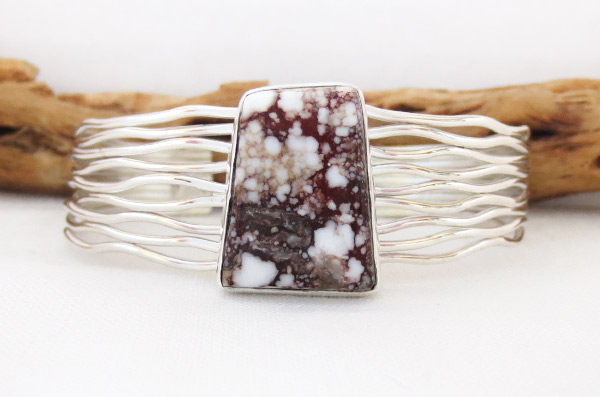 Image 0 of Wild Horse Stone & Sterling Silver Bracelet Navajo Jewelry - 3450sn