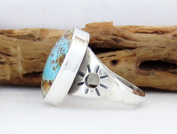 Image 2 of   Boulder Turquoise & Sterling Silver Ring Sz 8.75 Navajo Jewelry - 2382sn