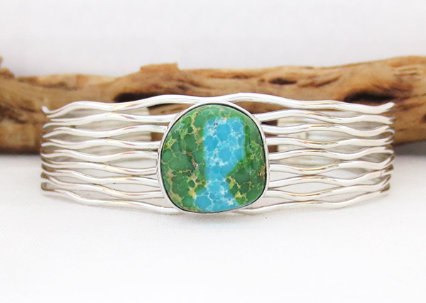 Turquoise & Sterling Silver Bracelet Native American Jewelry - 1205sn