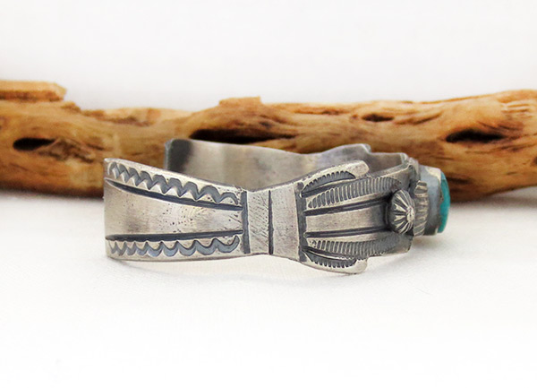 Image 2 of Sterling Silver & Turquoise Bracelet Native American Jewelry - 1216dt