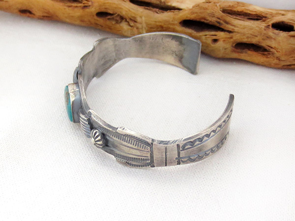 Image 3 of Sterling Silver & Turquoise Bracelet Native American Jewelry - 1216dt