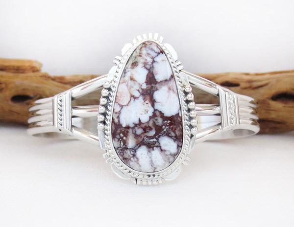 Image 0 of    Big Wild Horse Stone & Sterling Silver Bracelet Navajo Jewelry - 1229sn