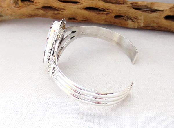 Image 3 of    Big Wild Horse Stone & Sterling Silver Bracelet Navajo Jewelry - 1229sn