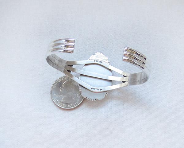 Image 4 of    Big Wild Horse Stone & Sterling Silver Bracelet Navajo Jewelry - 1229sn