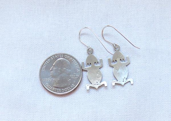 Image 2 of     Sterling Silver Lizard Earrings Navajo Jewelry - 1227sn