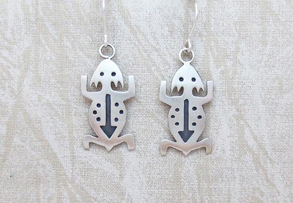 Image 0 of     Sterling Silver Lizard Earrings Navajo Jewelry - 1227sn