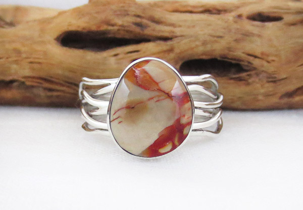 Mammoth Stone & Sterling Silver Ring Sz 9 Navajo Jewelry - 1265sn