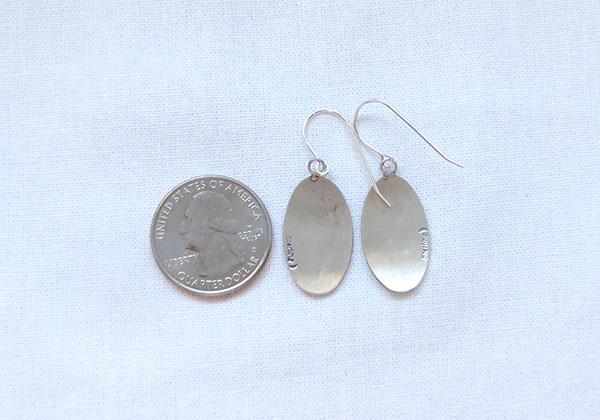 Image 2 of      Satin Sterling Silver Butterfly  Earrings Navajo Jewelry - 1270sn