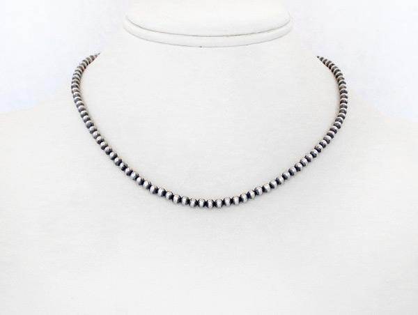 Image 1 of  Sterling Silver Desert Pearl Bead Necklace 16