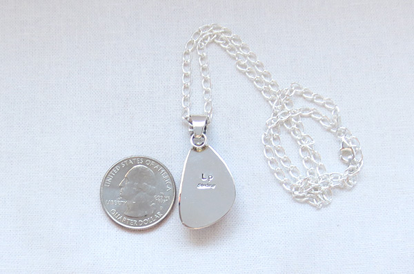 Image 3 of    Charoite & Sterling Silver Pendant W/Chain Native American Jewelry - 5116sn