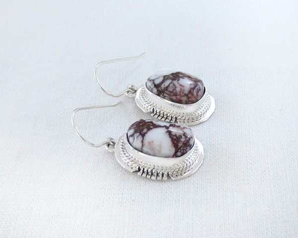 Image 1 of    Wild Horse Stone & Sterling Silver Earring Navajo Jewelry - 5075sn