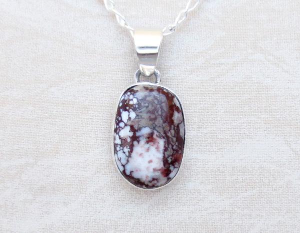 Wild Horse Stone & Sterling Silver Pendant W/Chain Navajo Jewelry - 5123sn