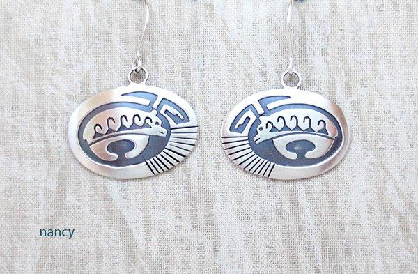 Image 0 of     Sterling Silver Bear Earrings Navajo Jewelry - 5381sn