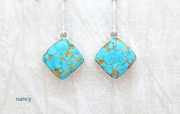 Image 0 of   Turquoise & Sterling Silver Earrings Native American Jewelry - 5380sn