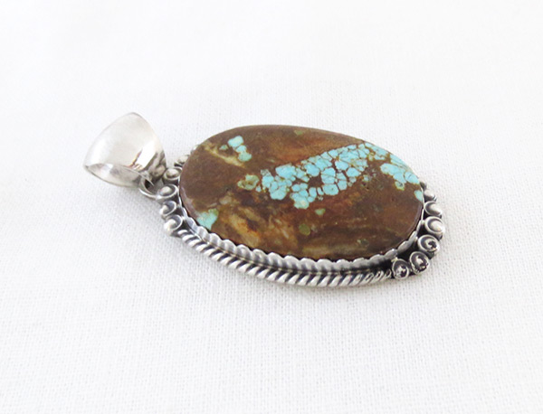 Image 2 of     Navajo Jewelry #8 Mine Turquoise & Sterling Silver Pendant - 4595dt