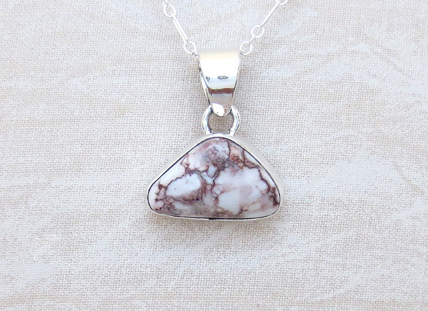 Image 0 of    Wild Horse Stone & Sterling Silver Pendant W/Chain Navajo Jewelry - 4503sn