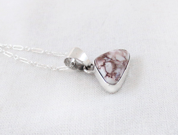 Image 2 of    Wild Horse Stone & Sterling Silver Pendant W/Chain Navajo Jewelry - 4503sn