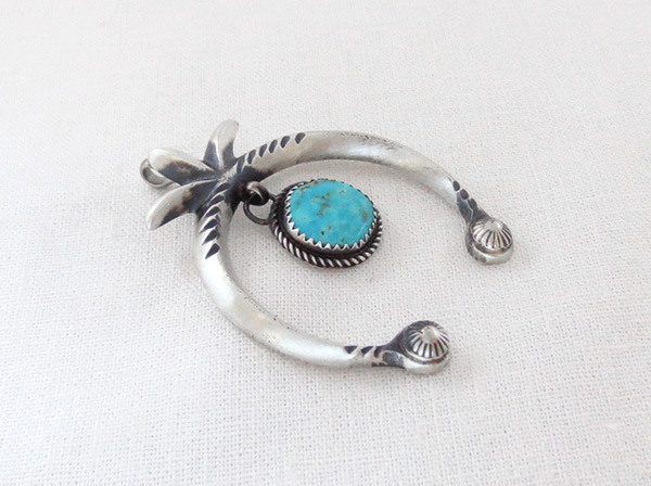 Image 2 of   Turquoise & Sterling Silver Naja Pendant Navajo Jewelry - 5076rb