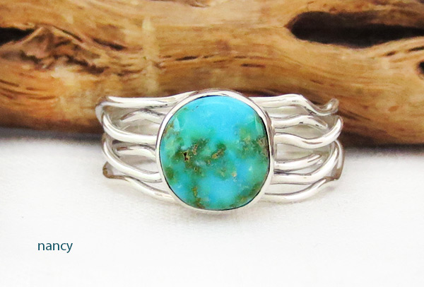 Image 0 of     Small Turquoise & Sterling Silver Ring Sz 10.25 Navajo Jewelry - 4526sn