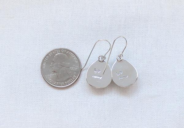 Image 2 of Navajo Jewelry White Buffalo Stone & Sterling Silver Earrings - 5092sn