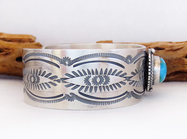 Image 2 of Turquoise & Sterling Silver Bracelet Native American Jewelry - 2039sn