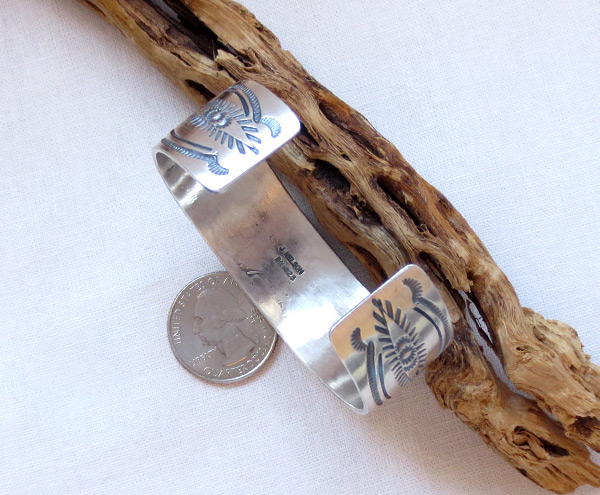 Image 3 of    Turquoise & Sterling Silver Bracelet Native American Jewelry - 2045sn
