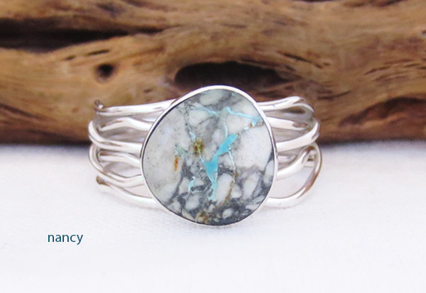 Image 0 of     Boulder Turquoise & Sterling Silver Ring Size 9.25 Navajo Jewelry - 2057sn