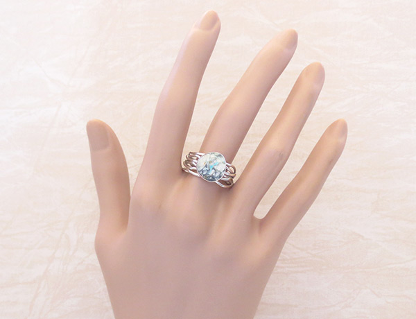 Image 1 of     Boulder Turquoise & Sterling Silver Ring Size 9.25 Navajo Jewelry - 2057sn
