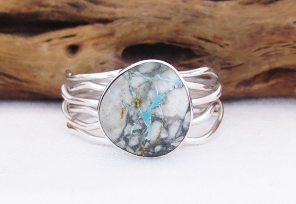 Boulder Turquoise & Sterling Silver Ring Size 9.25 Navajo Jewelry - 2057sn