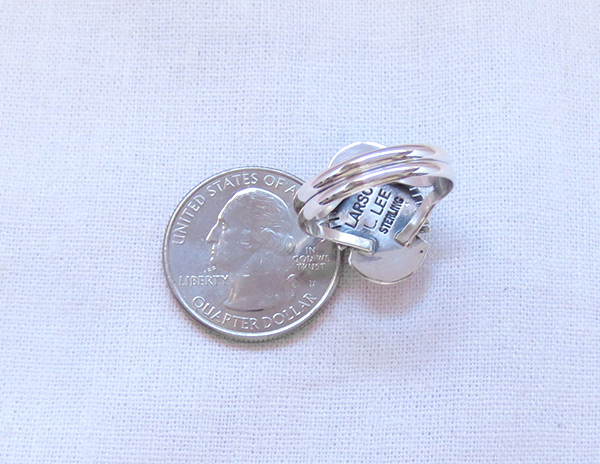 Image 3 of   Native American Jewelry Spiny Oyster & Sterling Silver Ring Sz 7.5 - 3208sn
