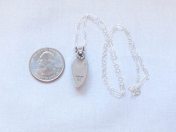 Image 3 of     Wild Horse Stone & Sterling Silver Pendant W/Chain Navajo Jewelry - 3226sn