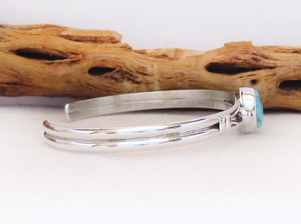 Image 2 of    Turquoise & Sterling Silver Bracelet Native American Jewelry - 3241sn