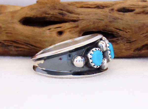 Image 2 of      Turquoise & Sterling Silver Ring Sz 9 Navajo Jewelry - 3259rb