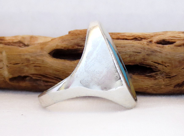 Image 1 of Old Vintage Mop Turquoise Ring Sz 10 Southwest Jewelry - 6028vt