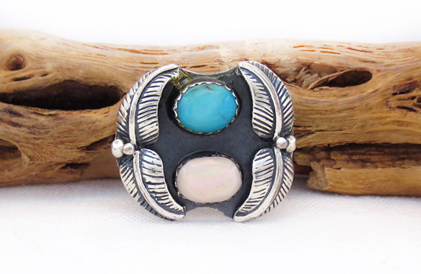 Old Vintage Turquoise Ring Sz 6.25 Southwest Jewelry - 6029vt