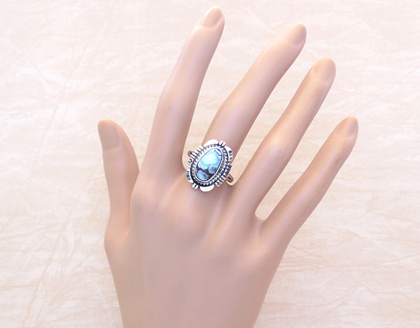 Image 1 of Golden Hill Turquoise & Sterling Silver Ring Sz 9 Navajo Jewelry - 3114rio