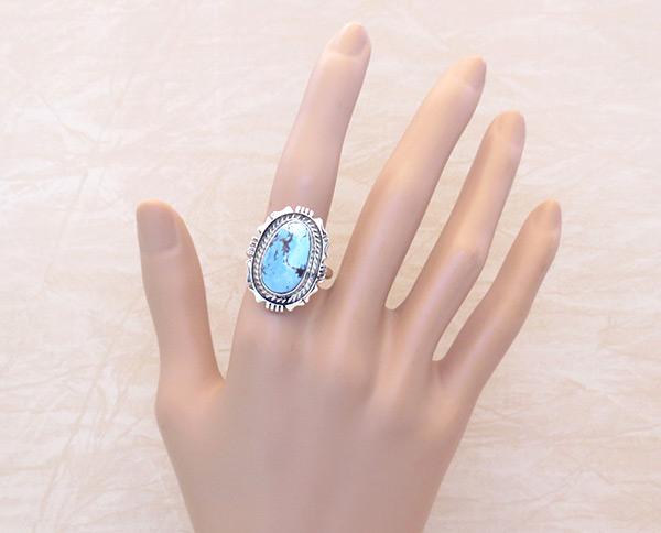 Image 1 of      Golden Hill Turquoise & Sterling Silver Ring Sz 10 Navajo Jewelry - 3109rio