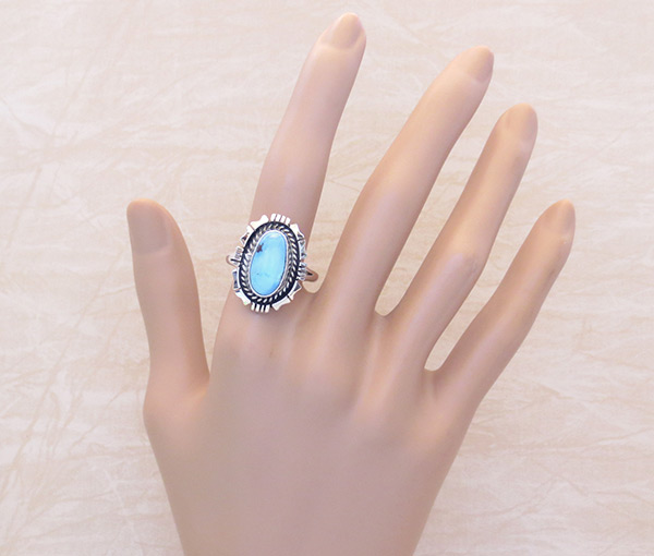 Image 1 of     Golden Hill Turquoise & Sterling Silver Ring Sz 10.5 Navajo Made - 3325rio