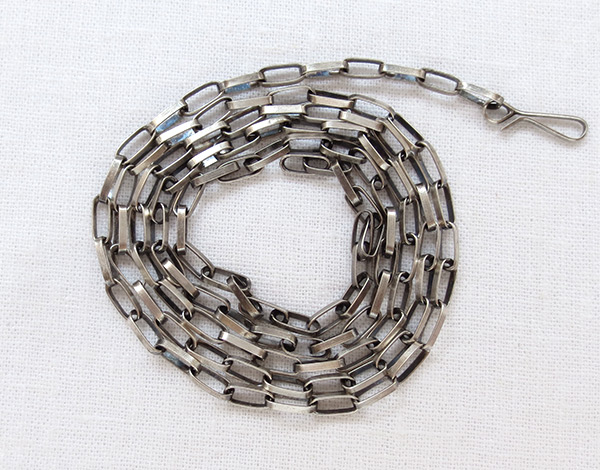 Navajo Handcrafted Sterling Silver Link Chain Necklace - 1129rio