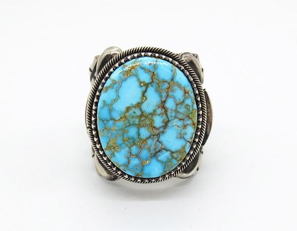 Derrick Gordon Kingman Turquoise & Sterling Silver Ring Sz 10.25 - 7106coz