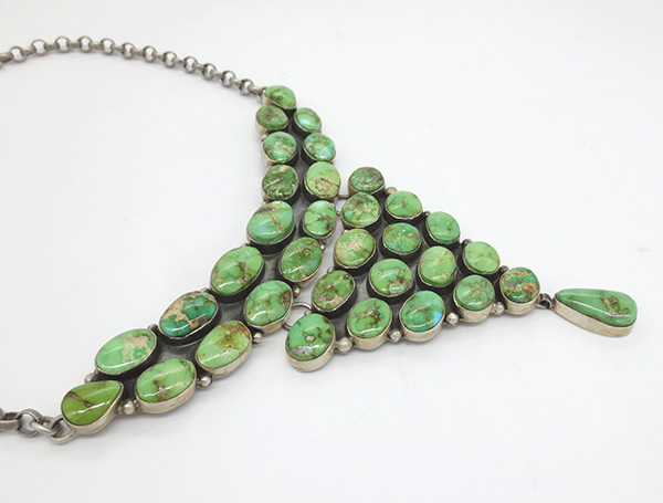 Image 2 of Sonoran Gold & Sterling Silver Necklace Native American Jewelry - 7112coz