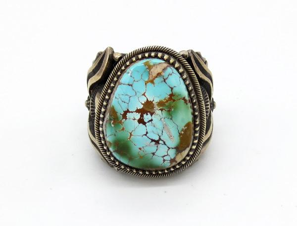 Derrick Gordon Royston Turquoise & Sterling Silver Ring Sz 11.75 - 7124coz