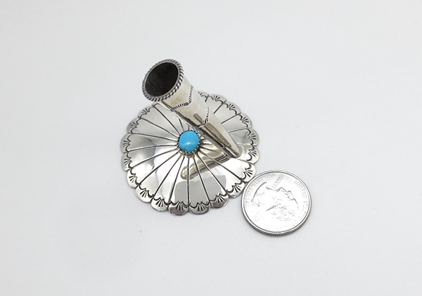 Image 2 of Handcrafted Turquoise & Sterling Silver Pen Holder - 5168rio