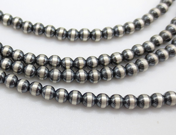 Image 1 of      Sterling Silver Desert Pearl Necklace 28
